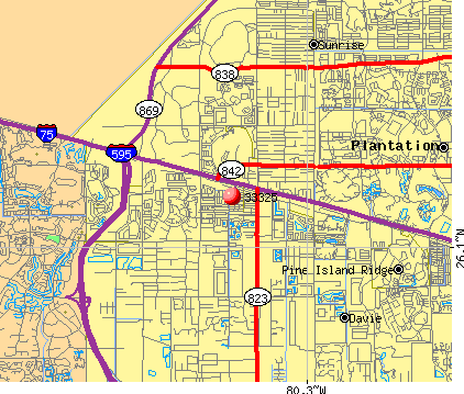 Davie, FL (33325) map