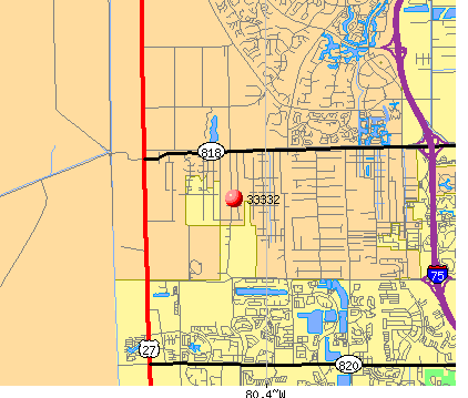Weston, FL (33332) map