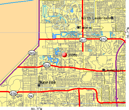 Sunrise, FL (33351) map