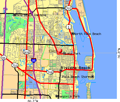 Lake Park, FL (33403) map
