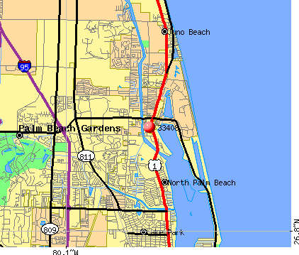 North Palm Beach, FL (33408) map