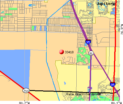 Palm Beach Gardens, FL (33418) map