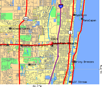 Boynton Beach, FL (33426) map