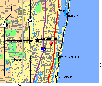 Boynton Beach, FL (33435) map