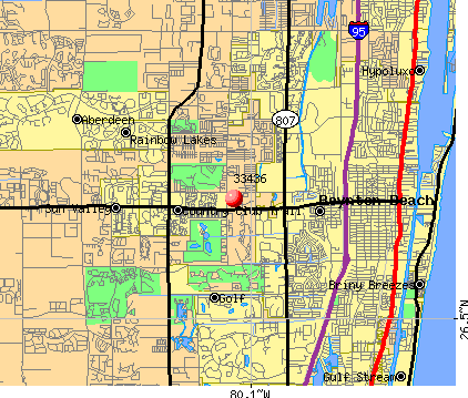 Boynton Beach, FL (33436) map