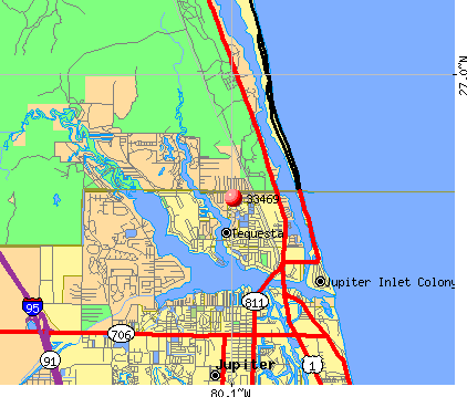Tequesta, FL (33469) map