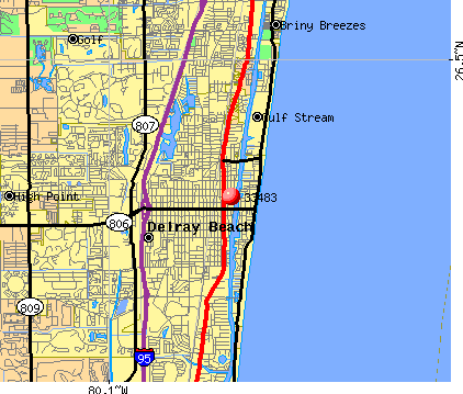 Delray Beach, FL (33483) map