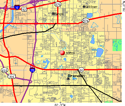 Brandon, FL (33510) map