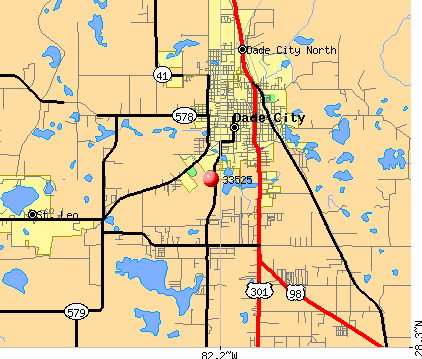 Dade City, FL (33525) map