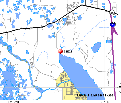 Lake Panasoffkee, FL (33538) map