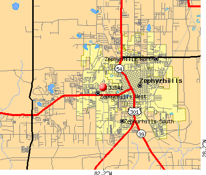 Zephyrhills, FL (33541) map