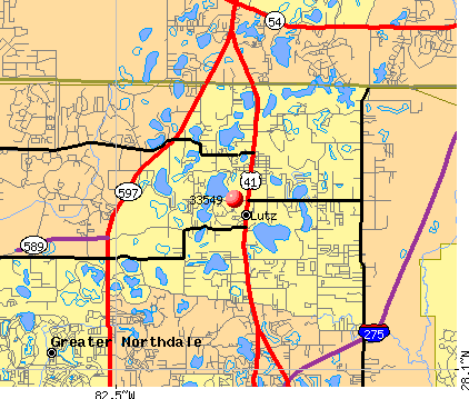 Lutz, FL (33549) map