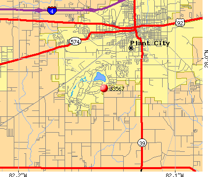 Plant City, FL (33567) map