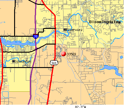 Riverview, FL (33569) map