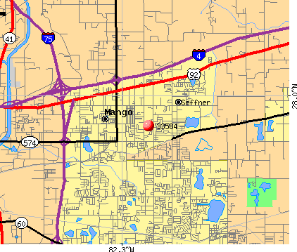 Thonotosassa, FL (33584) map