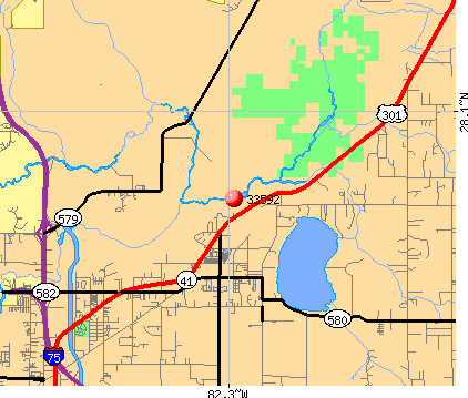 Thonotosassa, FL (33592) map