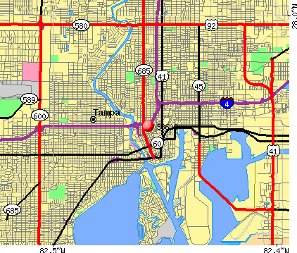 Tampa, FL (33602) map