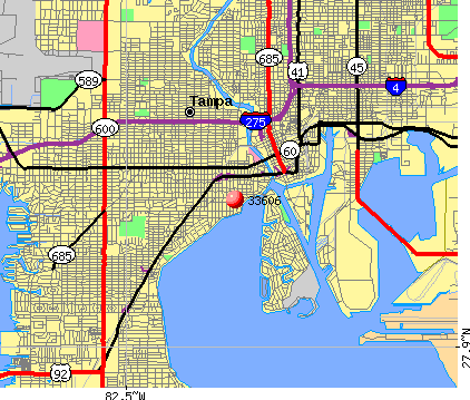 Tampa, FL (33606) map