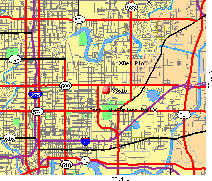 East Lake-Orient Park, FL (33610) map