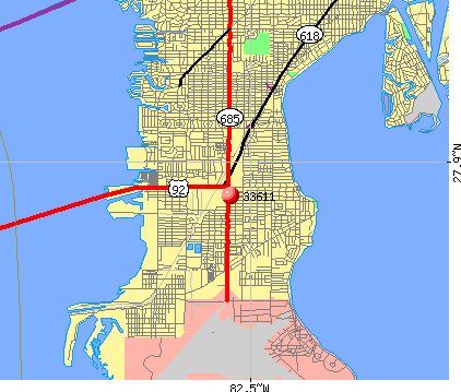 Tampa, FL (33611) map