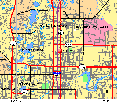 Tampa, FL (33612) map