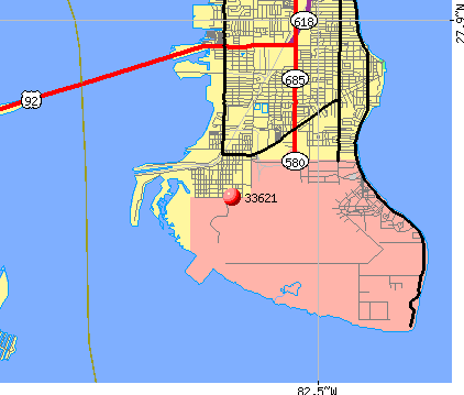 Tampa, FL (33621) map