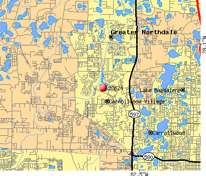 Carrollwood, FL (33624) map