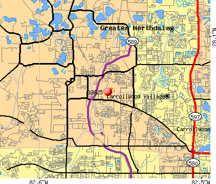 Citrus Park, FL (33625) map
