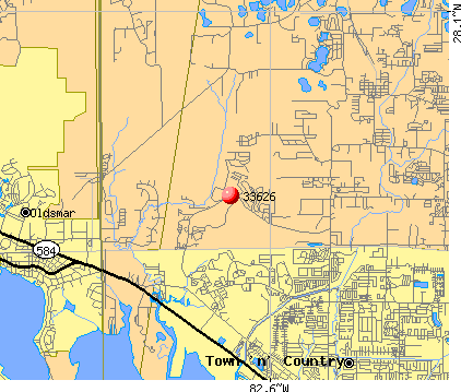 Westchase, FL (33626) map