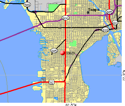 Tampa, FL (33629) map