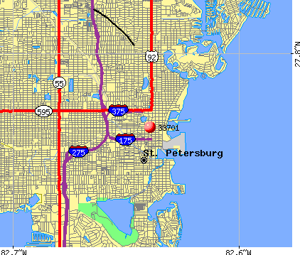 St. Petersburg, FL (33701) map