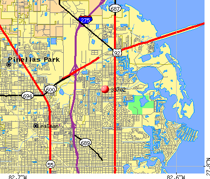 St. Petersburg, FL (33702) map