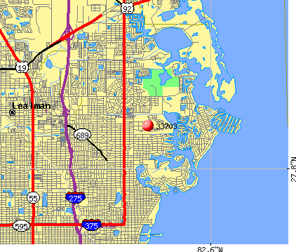 St. Petersburg, FL (33703) map