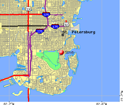St. Petersburg, FL (33705) map