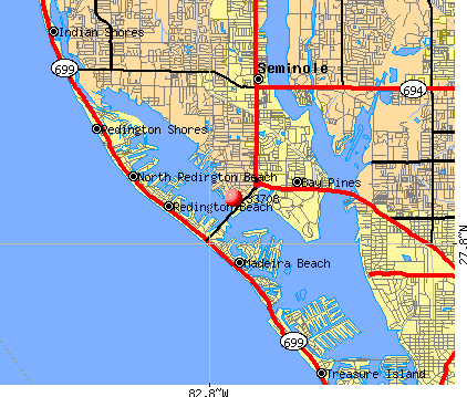 Madeira Beach, FL (33708) map