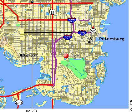 St. Petersburg, FL (33712) map
