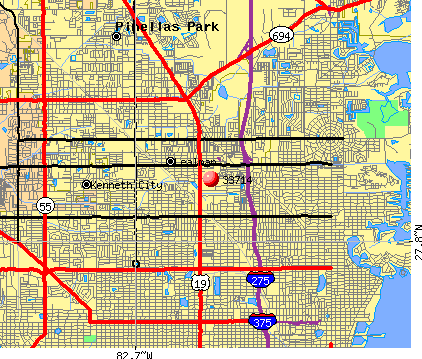 Lealman, FL (33714) map