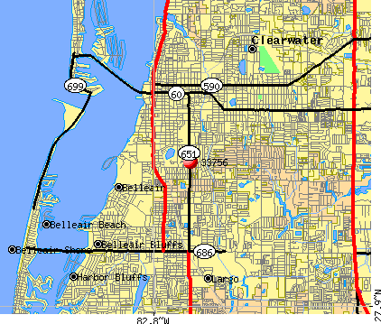 Clearwater, FL (33756) map