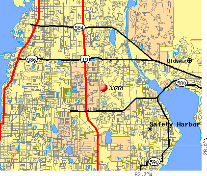 Clearwater, FL (33761) map