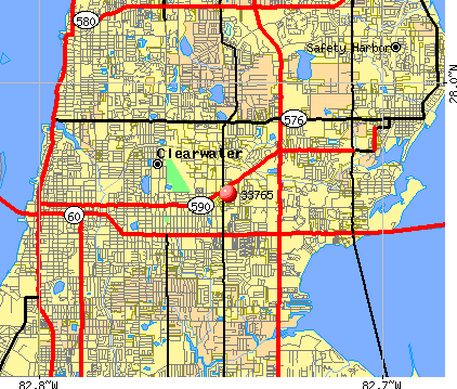 Clearwater, FL (33765) map