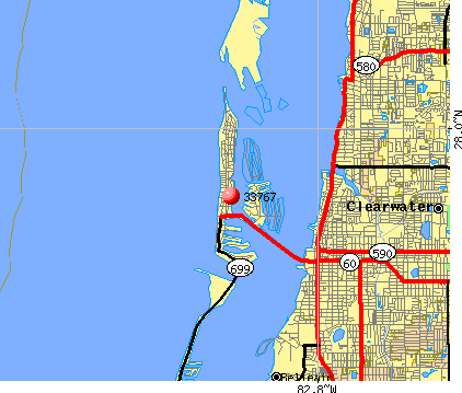 Clearwater, FL (33767) map
