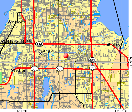 Largo, FL (33771) map