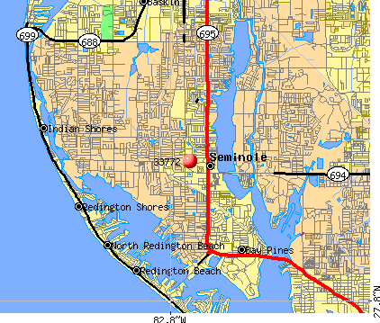 Seminole, FL (33772) map