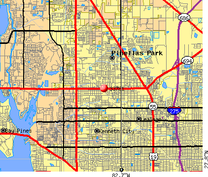 Pinellas Park, FL (33781) map