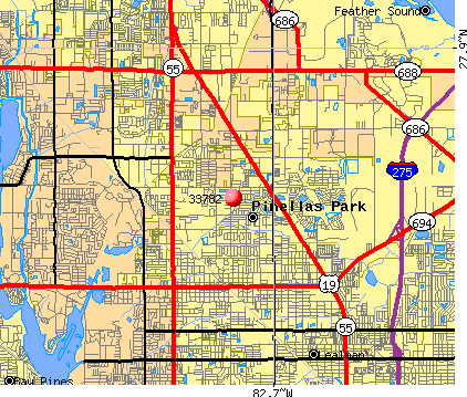 Pinellas Park, FL (33782) map