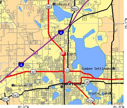 Lakeland, FL (33805) map