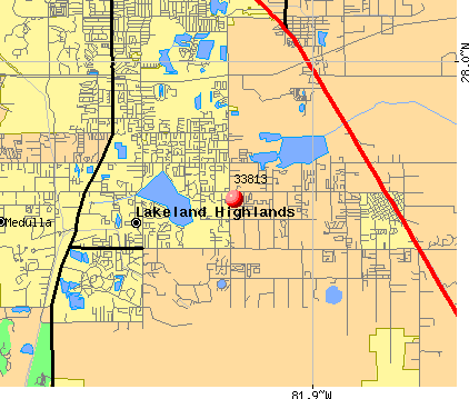 Lakeland Highlands, FL (33813) map