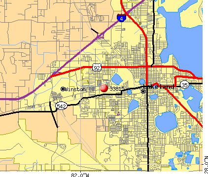Lakeland, FL (33815) map