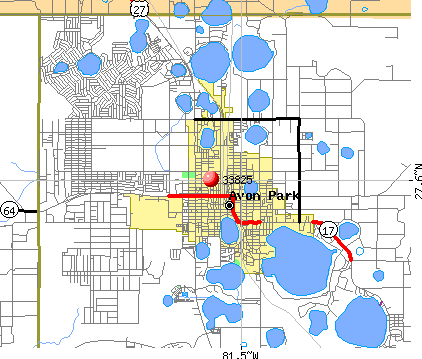 Avon Park, FL (33825) map