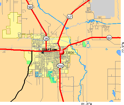 Bartow, FL (33830) map